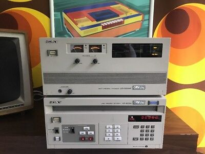Sony LVR-6000A & LVS-6000AP CRVdisc Used See Picture Laser Videodisc
