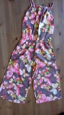 Next Brown Pink Butterfly Strappy Jumpsuit Age 5