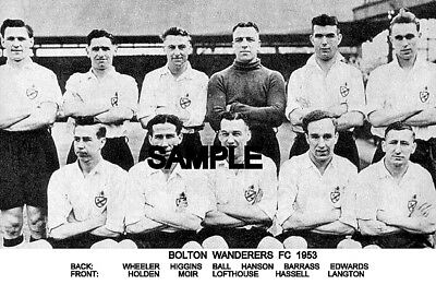Bolton Wanderers FC 1953 Team Photo