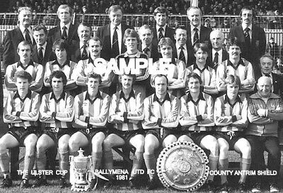 Ballymena Utd FC 1981 Cup Team Photo