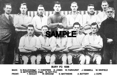 Bury FC 1936 Team Photo