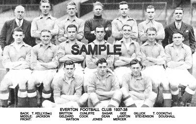 Everton FC 1937 Team Photo