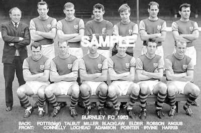 Burnley FC 1963 Team Photo