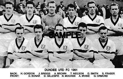 Dundee Utd FC 1961 Team Photo