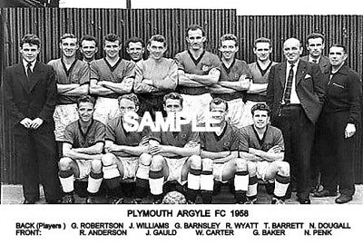 Plymouth Argyle FC 1958 Team Photo