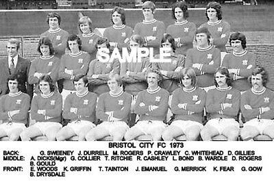 Bristol City FC 1973 Team Photo