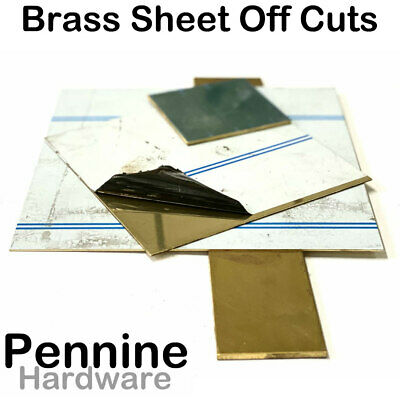 Solid Polished BRASS SHEET Off Cuts - Bargain Off Cuts to good to scrap