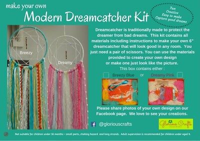 Dreamcatcher Kit Blue, Bohemian, Craft Kit, Birthday, Gift,  Craft Party