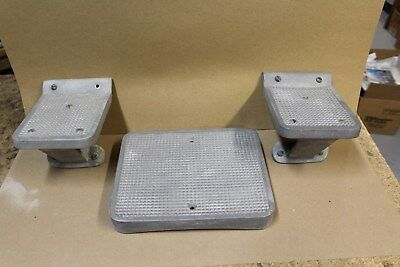 Vntage Fire Truck Step Plates  -- Used parts