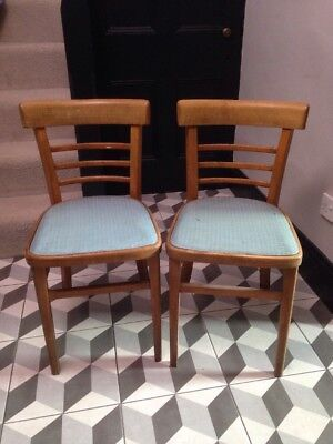 Pair of Vintage British Rail Cafe Dining Chairs