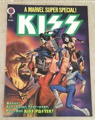 2nd KISS Marvel Super Special Comic 1978 #5 WITH POSTER Aucoin Gene Simmons Ace