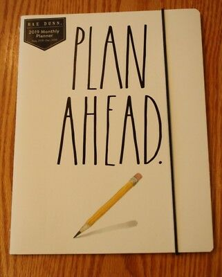 New Rae Dunn Plan Ahead Monthly Planner Aug 2018 - December 2019 Notebook Pad