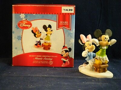 """D56 Mickey's Merry Christmas Village """"Minnie Sewing"""""""