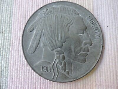 Large 3 Inch Novelty Medal/Coin/Coaster/Paperweight 1913-S BUFFALO NICKEL
