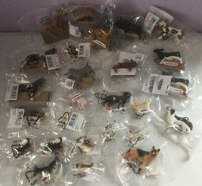 Lot 25 Schleich Animals Deer Dogs Puppies Piglet Horse Cows Donkey Lamb NEW