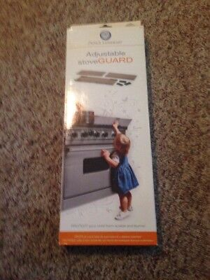 Prince Lionheart Shield-A-Burn Adjustable Stovetop Oven Stove Guard New Open Box