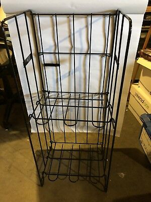 Wire Tabloid/Magazine/Newspaper Display Rack Stand - Powder Coated and NEW