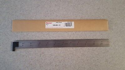 Starrett H604R-12 12 inch hook end scale 1/64, 1/32, 1/8 & 1/16 inch graduations