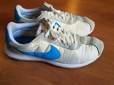 new product 6b76e d44eb Nike Roshe LD-1000 Mens 844266-104 Summit White Blue Glow Running Shoes Size