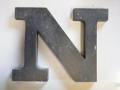 """Vintage Cast Aluminum 8"""" Letter """"N"""" Marquee - Theater - Wedding Decor"""