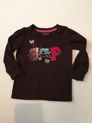 Baby Gap 12-18 month Brown Top Girl