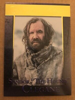Game Of Thrones - Season 7: Gold Parallel Base Card: Card 43 - Sandor Clegane