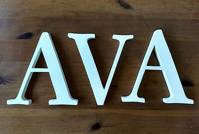 "EUC Pottery Barn Kids 8"" White Wall Letter ""AVA"""