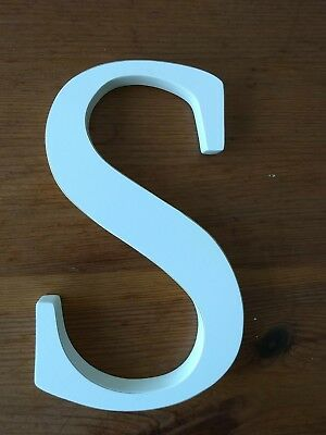"Pottery Barn Kids 8"" White Wall Letter ""S"""