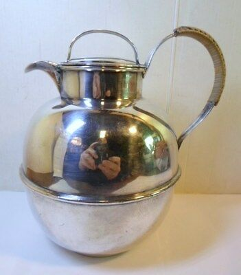 Reed & Barton EPNS SILVER CARAFE HOT / ICED BEVERAGE POT with Gothic M Monogram