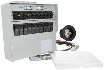 Portable Generator Manual Reliance Transfer Switch 30 Amp 10-Circuit Indoor 310A