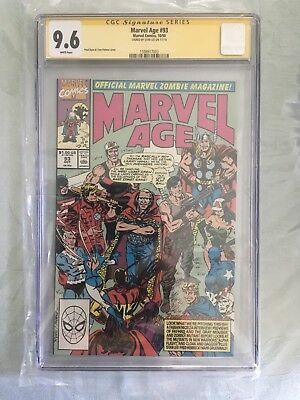 Marvel Age #93 CGC 9.6 Signed By Stan Lee RARE