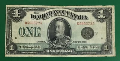 """1923 $1 Dominion of Canada """"LARGE SIZE"""" Currency!"""