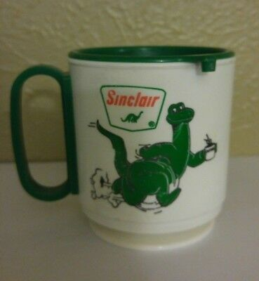Vintage plastic Sinclair Coffee Club travel mug
