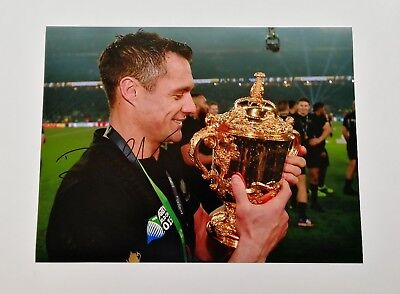 "Dan Carter signed 16x12"" New Zealand All Blacks rugby photo / proof COA"