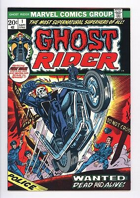 Ghost Rider #1 Vol 1 Almost PERFECT High Grade 1st Appearance Son of Satan 1973