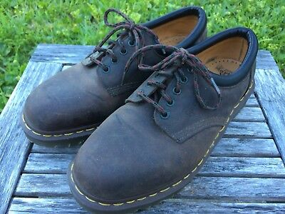Dr.  Martens The Original  5 Eye Brown Leather Shoes Men Size 10 Made in England