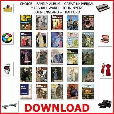 1930s 60s 70s GREAT UNIVERSAL MAIL-ORDER CATALOGUE DVD MARSHALL WARD TRAFFORD