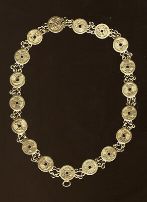 Vintage Late 19th Century  Chinese Coin Necklace