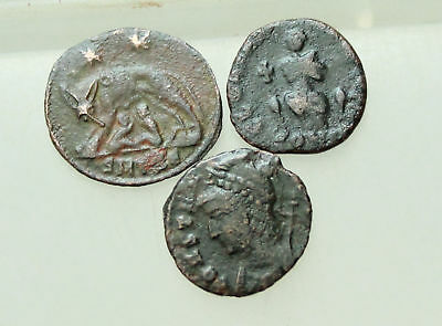 Roman AE Coins Follis D=13-18mm very fine Lot of 3x Ancient rare/scarce cons