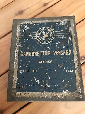 Carburettor washer asst challenge Vintage Tin car rare workshop garage tools old