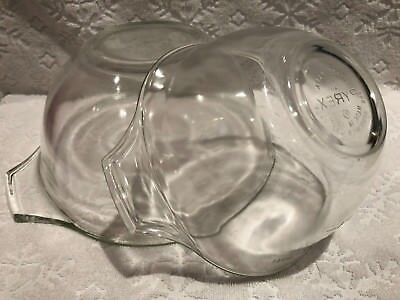 Vintage PYREX 1961; HTF-UNIQUE TWO CLEAR TEARDROP MIX-MEASURE-BOWLs; 3C, 8C