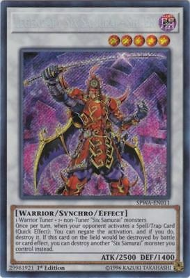 Legendary Six Samurai - Shi En - SPWA-EN011 - Secret Rare -1st  FREE SHIPPING