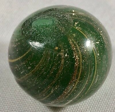 """Antique/vintage  German Handmade Loaded Lutz Onionskin Marble 0.68"""" Inches"""