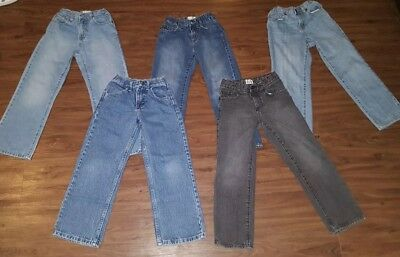 GUC 5 Piece Lot Boys Blue Jeans school clothes Size 7 CHILDRENS PLACE, OLD NAVY