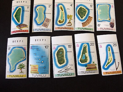 Tuvalu - Island maps - set of ten - MNH