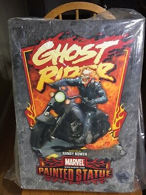 Ghost Rider Statue in Black Chrome by Randy Bowen Designs. in excellent cond.
