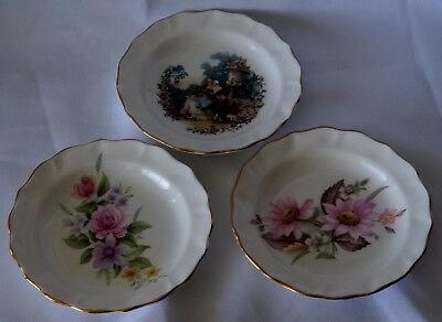 Clearance 3 Duchess bone china england miniature collector plates 12 cm across