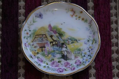 Royal Burlington Staffordshire bone china England miniature collector's plate