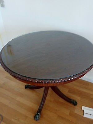 Vintage Dining Table With Glass Top
