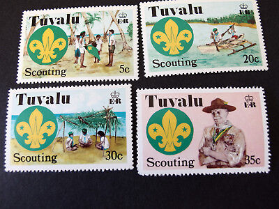 Tuvalu - Scounting - set of four - MNH